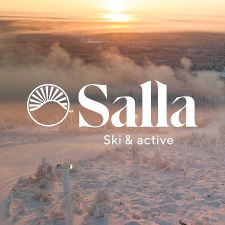 Talvimaisema Sallassa